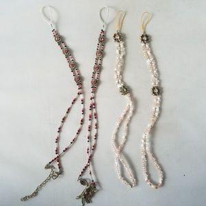Jewelry - Fashion Beaded Bracelets Flowers Pink Set of 4